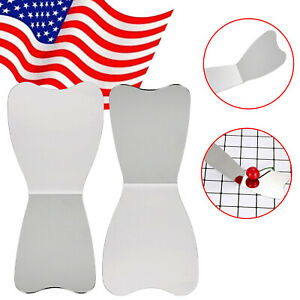 1 2pcs dental oral mirror stainless steel autoclavable photographic reflector