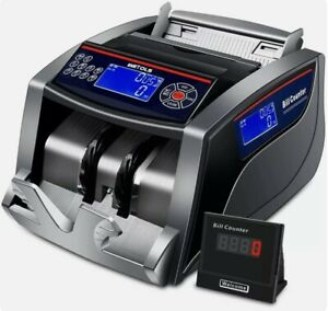 Wetols Money Counter With Counterfeit Bill Detection Uv ir dd mg mt 3 Displays