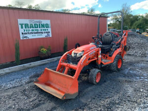 2018 Kubota Bx23s 4x4 Hydro 23hp Compact Tractor Loader Backhoe W 800 Hrs