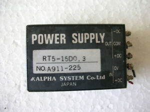 Kimoto 186 s Alpha System Power Supply Rt5 15d0 3 A911 225 Made In Japan Working