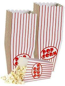 Small Movie Theater Popcorn Boxes Paper Popcorn Box Striped Red And White