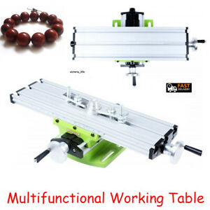 2 Axis Milling Machine Compound Work Table Vise Cross Sliding Bench Drill Vise