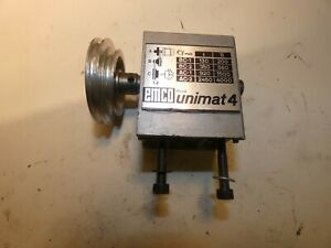 Emco Unimat 4 Headstock Complete Lathe Model Maker With Pulley Vgc
