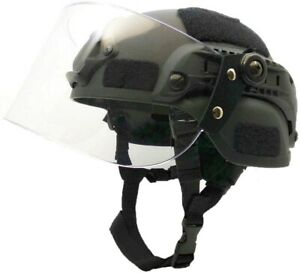Airsoft MICH 2000 ACHTactical Helmet with Clear Visor NVG Mount and Side Rail $29.00