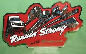 Snap On Running Strong With Snap On Decal Sticker Vintage New