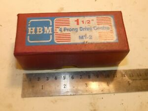 Hbm 1 1 2 4 Prong Drive Center Mt2 Compatible With Myford Super 7 Ml7 Tailstock