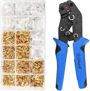 Wire Terminal Crimping Tool Kit Wire Crimper With Female Male Spade 500 Pcs