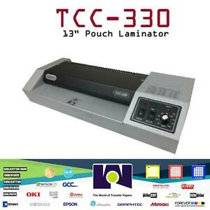 Tcc 330 13 Pouch Laminating Machine New Laminator Hot And Cold
