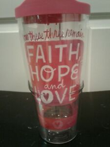 Tervis Tumbler For Hallmark quot;Faith Hope amp; Lovequot; 24 Oz With Lid New* $11.99