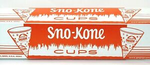 Sno kone 6oz Cup Snow Cone Cups 2 Boxes Of 200 Heavy Duty Gold Medal