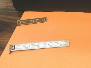 Starrett No h604r 6 6 Single Hook Spring tempered Steel Rule With Inch Grad
