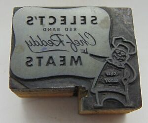 Printing Letterpress Printers Block Select s Red Brand Chef Reddy Meats
