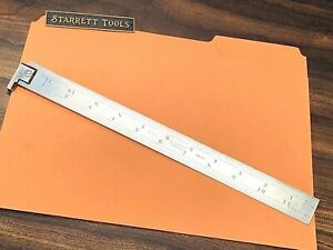 Starrett No h604r 12 12 Single Hook Spring tempered Steel Rule With Inch Grad