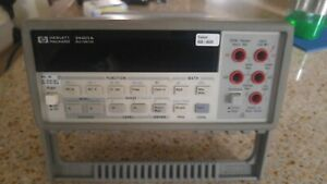 Agilent Hp 34401a Digital Multimeter Used Pass Self test Calibrated 2017