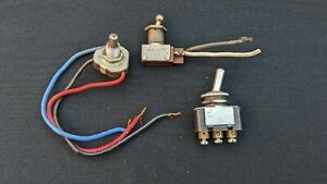 Lot Of 3 Vintage Switches Toggle Toggle Lot H
