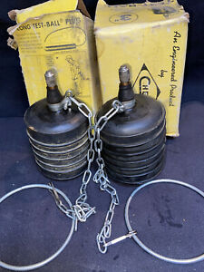 2x 3 Cherne Long Test Ball Rubber Pipe Plug Nos