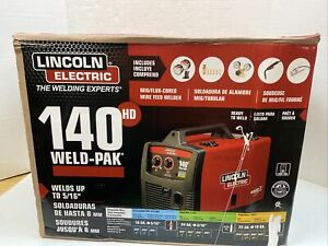 Lincoln Electric 140 Hd Weld pak 110 Welder K2514 1 Mig Wire Feed New