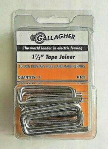 Gallagher 1 5 Tape Joiner Splice Buckle For Polytape Electric Fence H105 New