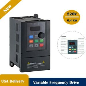 Ato 0 5hp 220v 0 4kw Vfd Variable Frequency Drive Inverter Single Phase