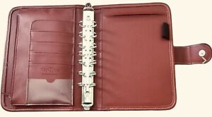 Franklin Covey Day 1 One Red Classic Planner Binder 1 1 8 Rings 3 Accessories