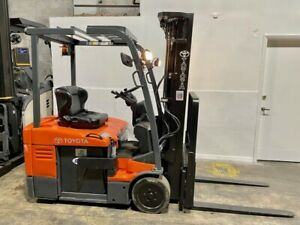 2014 Toyota Electric Forklift 7fbeu15 Low 83 high 189 2550 Lbs W Charger