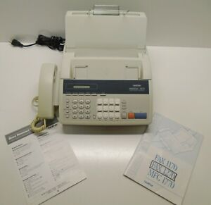 Brother Intellifax 1270 Fax Phone Copier Machine Tested Works