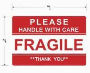 Fragile Stickers Lot Of 100 For Shipping