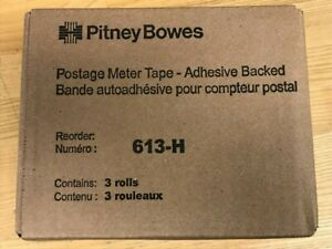 Genuine Pitney Bowes Postage Meter Tape 613 h Adhesive Backed factory Seal