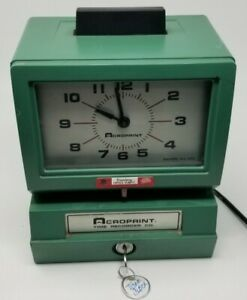 Acroprint Time Clock Recorder 150 Nr4 With Key