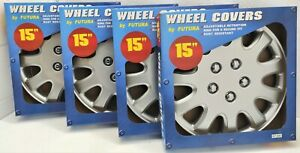 15 Wheel Covers By Futura Adjustable Retention Ring Set Of 4 Free Shipping