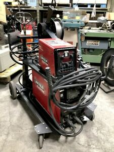 Lincoln Electric Power Wave S350 Mig Welder W Power Feed 84 Wire Feeder Cart