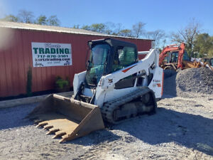 2017 Bobcat T590 Compact Track Skid Steer Loader W Cab Clean Machine