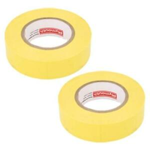 Plymouth Colored Vinyl Weather Resistant Electrical Tape 3 4 X 60 Yellow 2 Pack