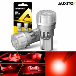 2x T10 168 192 194 2825 3020 Smd Wedge Led Instrument Trunk Dome Light Bulbs Red