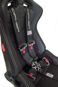 Cipher 5 Point Racing Harness 3 Sfi 16 1 Camlock Black Polyester 06 24 Exp