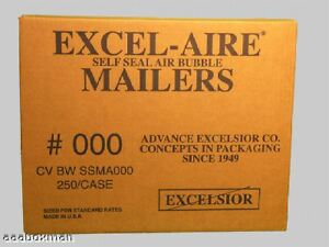 000 Bubble Mailer Case Of 250 Mailers Aaaboxman