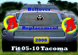 05 09 2008 2009 2010 Toyota Tacoma Billet Grille Combo 4pc 2005 2006 2007
