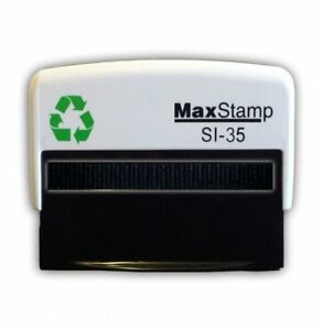 Custom Made Self Inking Rubber Stamp 68mm X 27mm Max 3 5 si 35