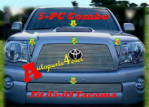 05 09 2008 2009 2010 Toyota Tacoma Billet Grille Combo 5pc 2007 2006 2005