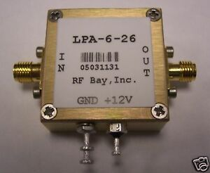 100 6000mhz Wideband Rf Amplifier Lpa 6 26 New Sma