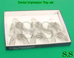 12 Dental Impression Tray Set Solid perfor Instruments