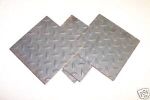 3 16 Floor Plate Or Diamond Plate Sheet Steel 12 X 24