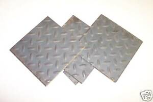 1 8 Floor Plate Or Diamond Plate Sheet Steel 12 X 24