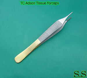 T c Adson Tissue Forceps 3 P Surgical Dental Instrument