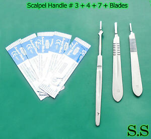 15 Scalpel Handle 3 4 7 100 Surgical Blade 10 20