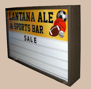 Outdoor Backlit Sign Changable Letters 3x6 Double Sided
