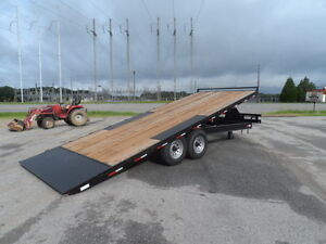 22 Wood Tilt Deck Equipment Car Hauler Trailer New 14k