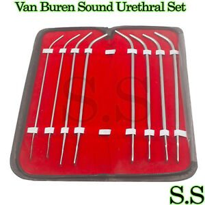 5 Van Buren Sound Urethral Set Of 8 Surgical Instruments