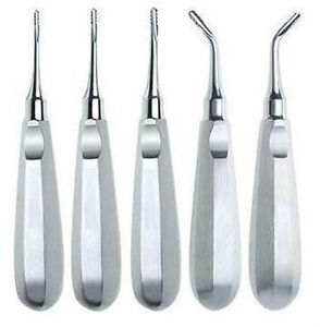 5 Serrated Elevators Dental Veterinary Instruments