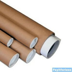 2 5 X 48 Kraft Shipping Mailer Mailing Storage Postal Tubes 34 Pc